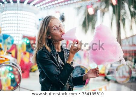 Party girl at summer festival wearing pink sunglasses  Stock photo © dashapetrenko