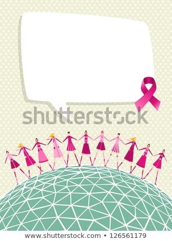 Rose cancer ruban monde internationaux conscience Photo stock © Imaagio