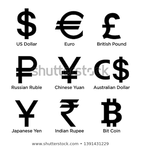 Bitcoin kínai yen dollár ikon szett vektor Stock fotó © robuart