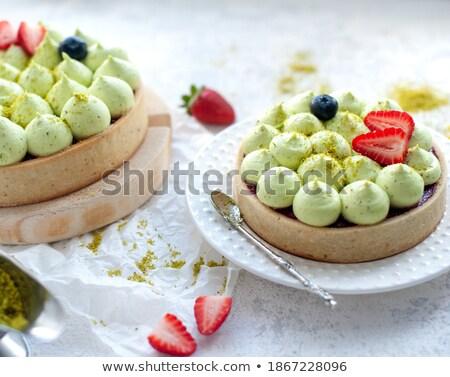 close up of two homemade lemon pies stock photo © mpessaris