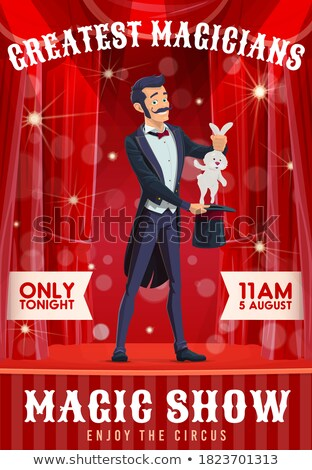 Cartoon konijn smoking illustratie De ober glimlachend Stockfoto © cthoman