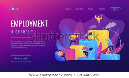 negocios · jerarquía · aterrizaje · página · empresarios · trabajo - foto stock © rastudio