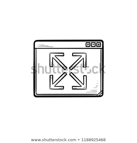 Browser window expansion hand drawn outline doodle icon. Stock photo © RAStudio