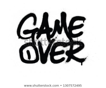 Grafite jogo texto preto e branco grafite agitar-se Foto stock © Melvin07