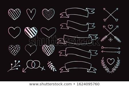 Valentin nap holografikus kártya gyűjtemény üdvözlőlap stílus Stock fotó © cienpies