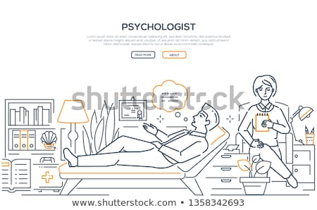 Psicologo moderno line design stile web Foto d'archivio © Decorwithme