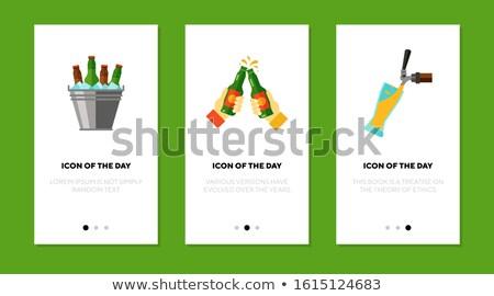 vector set of ice bucket Stock photo © olllikeballoon