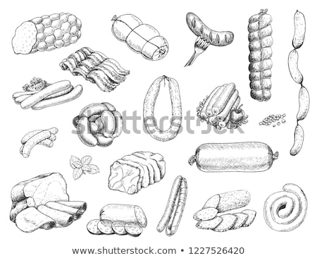 vector set of sausages stock photo © olllikeballoon