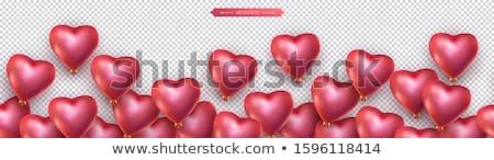 fronteira · modelo · forma · de · coração · ilustração · coração · fundo - foto stock © cammep