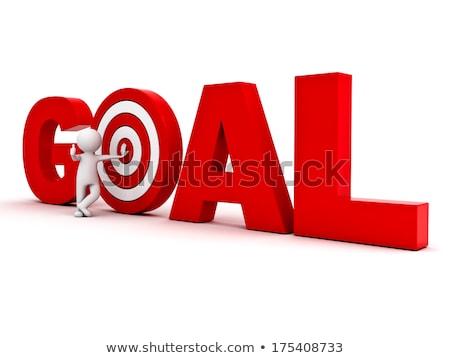 Man aiming against dartboard Stock photo © Kzenon