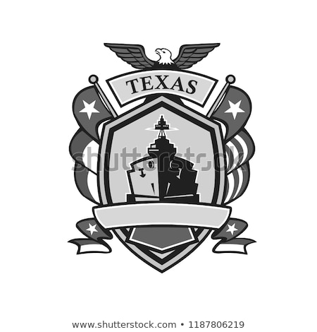 Texas Warship Lone Star Flag Crest Icon Stock photo © patrimonio