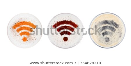 Glasses of red ale stout and lager beer top wi-fi Stock photo © DenisMArt