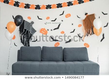 Stockfoto: Halloween · partij · ballonnen · zwarte · vakantie · decoratie