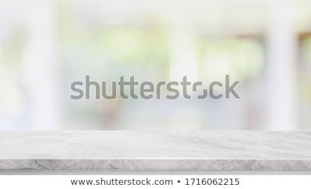 temizlemek · boş · cam · mermer · tablo · züccaciye - stok fotoğraf © Anneleven