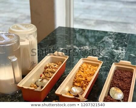 Desayuno buffet establecer alimentos ilustración restaurante Foto stock © colematt