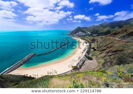Strand tenerife luchtfoto dorp zomer hemel Stockfoto © neirfy