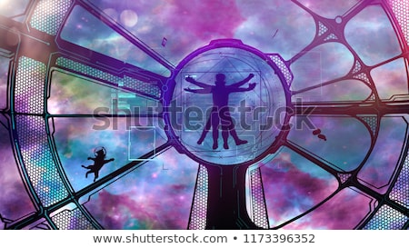 Astronaute chat aventure image vaisseau spatial Photo stock © ConceptCafe