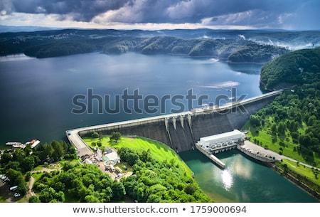 реке огромный строительство регулирование воды здании Сток-фото © jossdiim