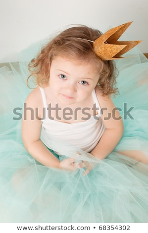 Cute little girl dressed for birthday Stock photo © nyul