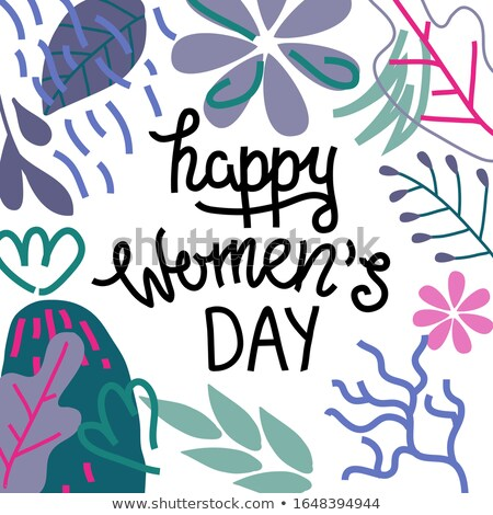 8 March Womens Day Calligraphy Greetings, Student Stock photo © robuart