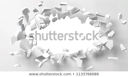 Duvar imha 3d illustration yalıtılmış beyaz arka plan Stok fotoğraf © montego