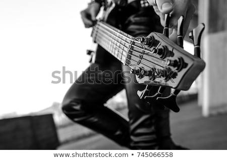 女の子 手 演奏 ギター クール ストックフォト © lichtmeister