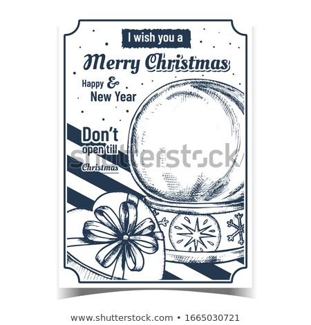 Foto stock: Vacío · Navidad · vintage · vector · vidrio