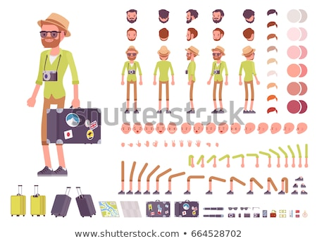 travelers or tourists characters with luggage set stock photo © robuart