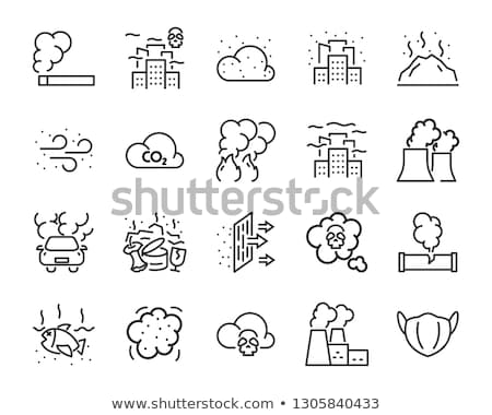 smog icon set Stock photo © bspsupanut