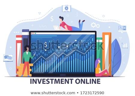Online bankügylet csere jövedelem üzletember okostelefon Stock fotó © studiostoks