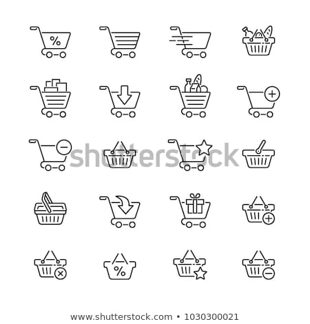Vector Supermarket Trolley with Black Shopping Bags Stock photo © dashadima