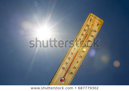 Global warming with hot sun Stock photo © bluering