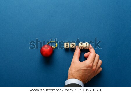 Two Red Dice On Calendar Stock photo © AndreyPopov