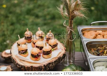 üdvözlet asztal előételek hideg nachos étel Stock fotó © grafvision
