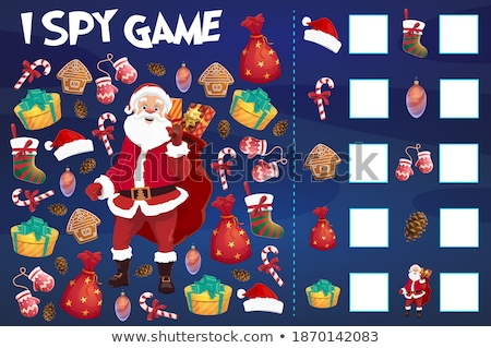 counting task with Santa Claus characters Stock photo © izakowski