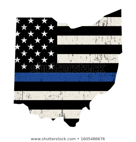 Ohio polis destek bayrak örnek biçim Stok fotoğraf © enterlinedesign