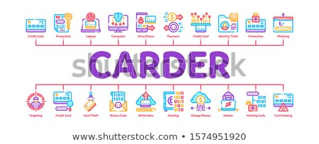 Carder Hacker Minimal Infographic Banner Vector Stock photo © pikepicture