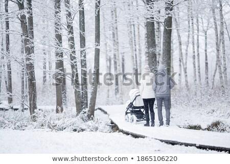 Kint anya apa kicsi gyermek sétál Stock fotó © ElenaBatkova