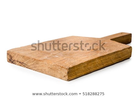 Wooden cutting board isolated on white Stock photo © Digifoodstock