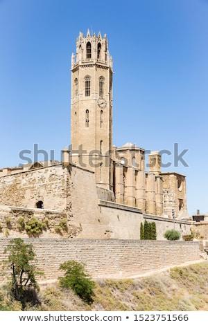 Oude kathedraal Spanje la kerk Romeinse Stockfoto © borisb17
