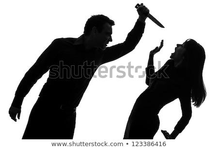 Gangsters man moordenaar schieten slachtoffer vent Stockfoto © jossdiim