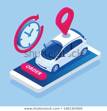 Vásár vétel bérlet osztás autó izometrikus Stock fotó © -TAlex-