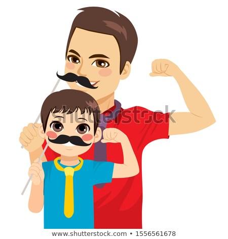 Erős gyerekek szülők sebezhetőség hagyományos család Stock fotó © Kotenko