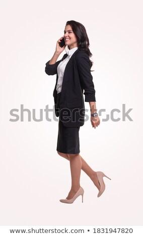 Derűs menedzser hivatalos kellemes mosoly arc Stock fotó © vkstudio
