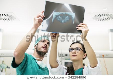 Tandarts naar tanden Xray scannen computer Stockfoto © AndreyPopov