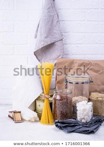 Establecer básico productos emergencia casa vidrio Foto stock © furmanphoto