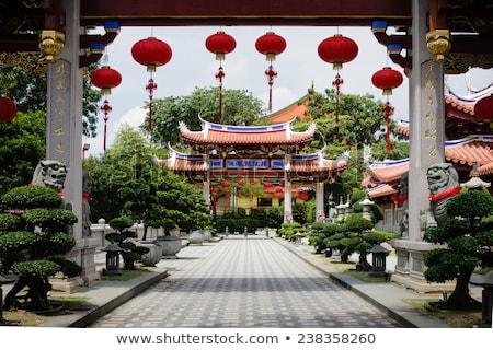 Gates of Lian Shan Shuang Lin Monastery Stock photo © dmitry_rukhlenko