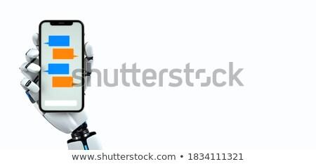 Humanoid Robot Chatbot Click Smatphone Stock photo © limbi007