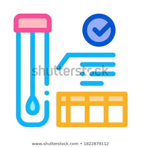 affirmative test tube material results icon vector outline illustration Stock photo © pikepicture