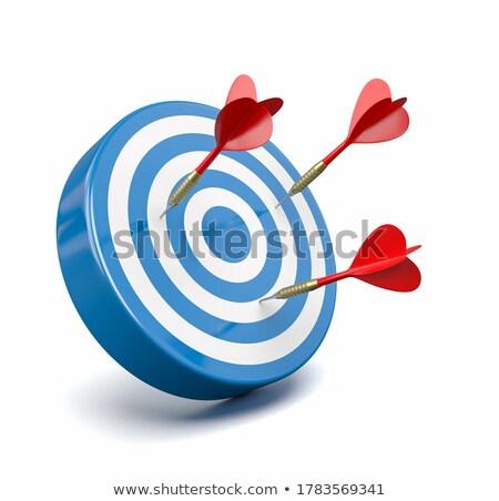 Vermelho dardos azul alvo falha três Foto stock © make